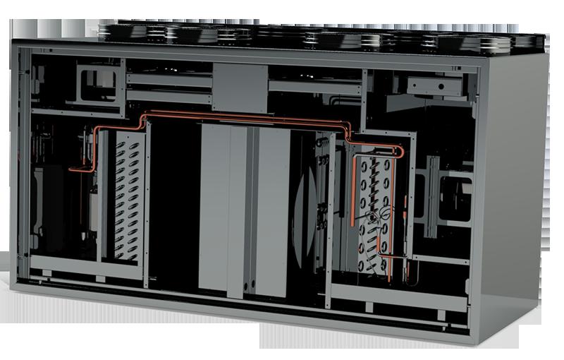 приточно-вытяжная установка IQvent DUO с реверсивным тепловым насосом