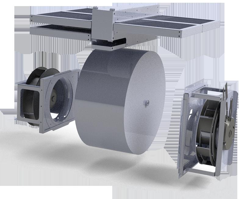 роторный рекуператор приточно-вытяжной установки IQvent