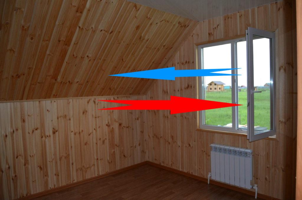 пример естественной вентиляции в доме