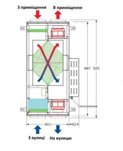 рекуператор теплого повітря в вентиляційній установці